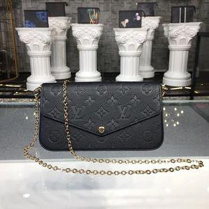 Louis Vuitton empreinte felicie crossbody bk